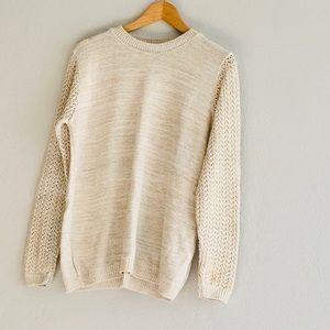 BooHoo Metallic Sweater
